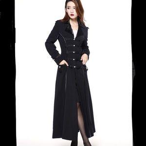 Jackets & Blazers - Black Gothic Steampunk Trench Coat Size S